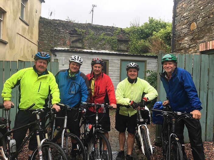 Mike Jordan, from Utopia, about to go cycling with some friends and fellow cyclists.